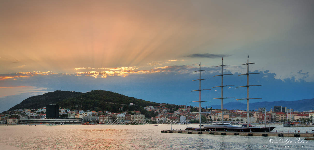Maltese Falcon in the port of Split