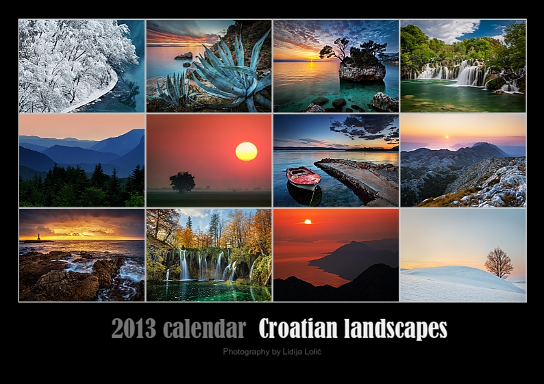 2013 calendar – Croatian landscapes