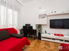 Red and white apartment