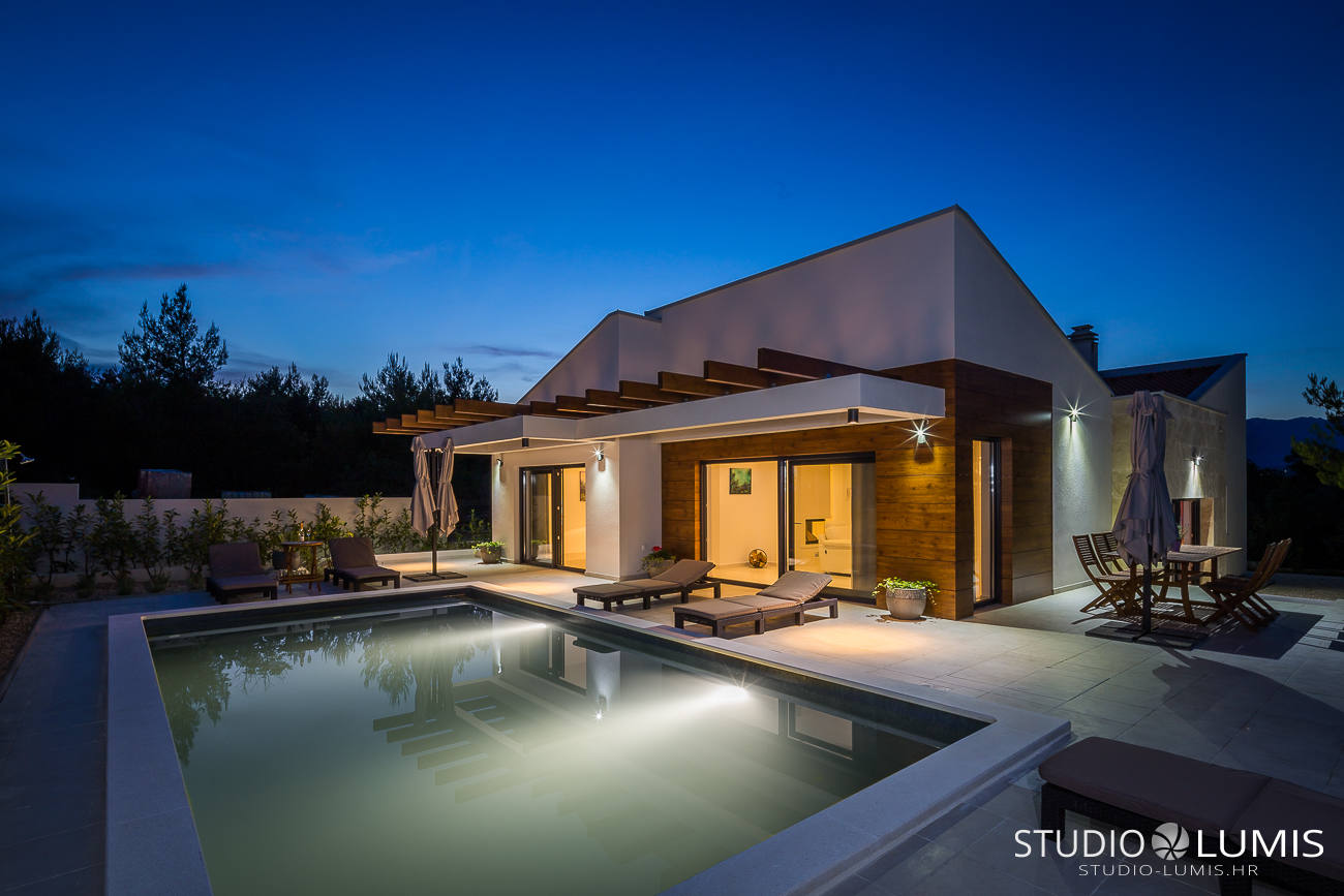 modern villa architecture photography