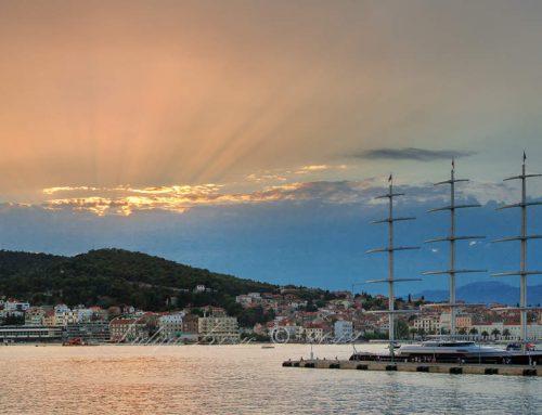 Maltese Falcon in the Port of Split