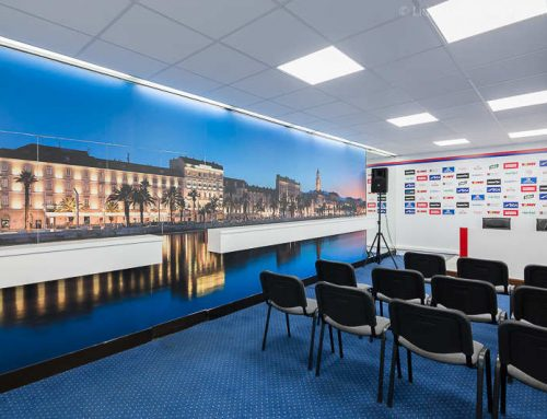 Wallpaper Print for Football Club Hajduk Press Room